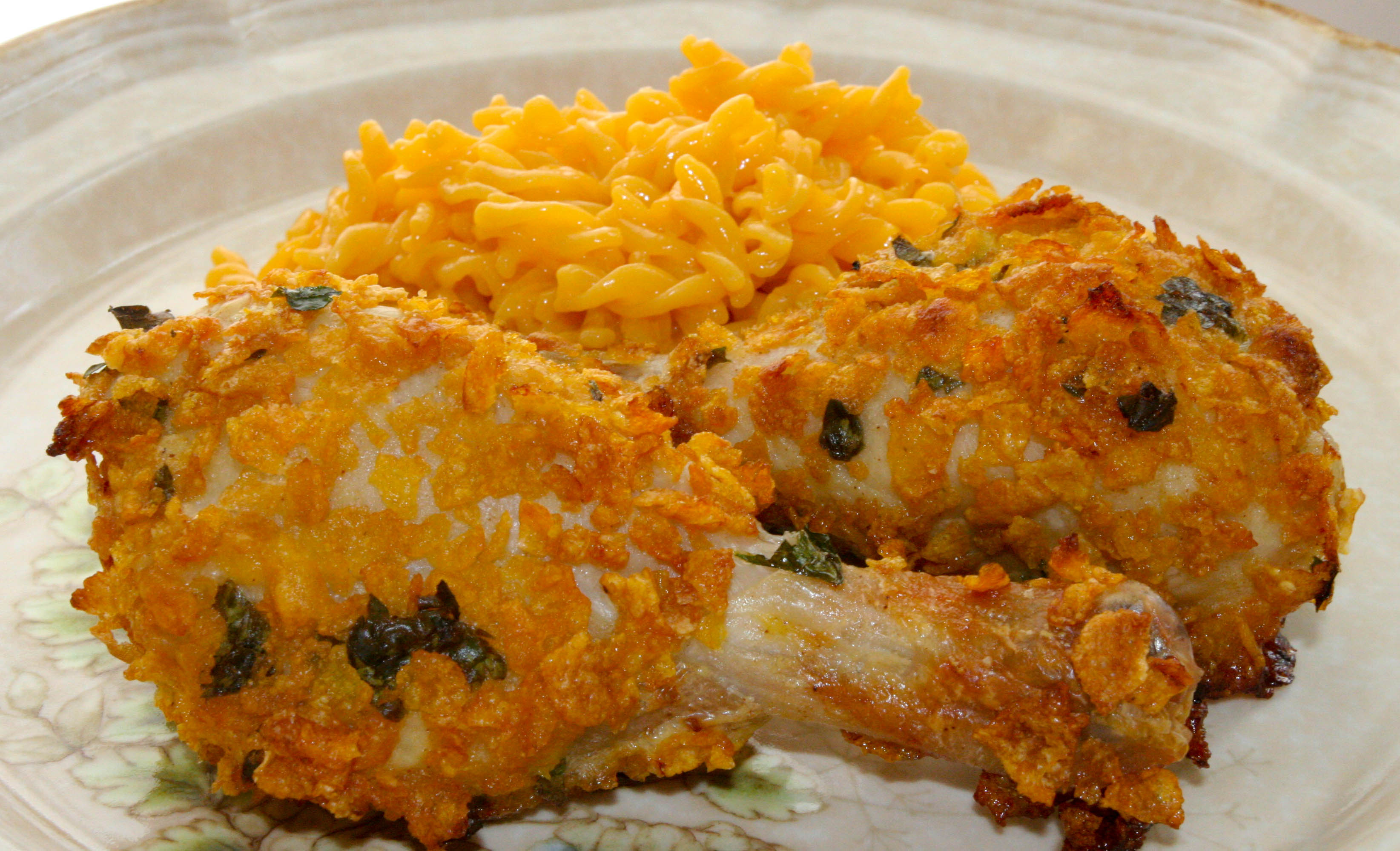 Cornflake Crusted Baked Chicken Legs – The Quick & Dirty Kitchen